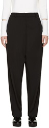 Opening Ceremony Black Wide Leg Moodle Trousers