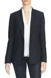 1.State Women's Long Crepe Blazer