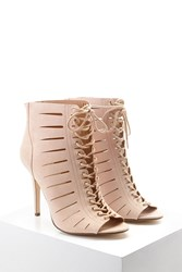 Forever 21 Caged Lace Up Stilettos