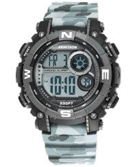 Armitron Men's Digital Chronograph Black And Gray Camouflage Strap Watch 54Mm 40 8284Cmgy Camoflouge
