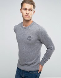 Franklin And Marshall Knitted Crew Neck Jumper Sport Grey