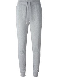 T By Alexander Wang Gathered Ankle Track Pants Grey