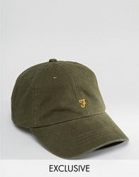Farah Baseball Cap In Olive Exclusive Olive Green