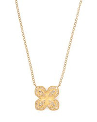 Jamie Wolf Scalloped Pave Diamond Flower Necklace
