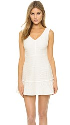 Cupcakes And Cashmere Eyelet Fit And Flare Dress White
