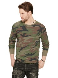 Ralph Lauren Denim And Supply Thermal Crew Neck Long Sleeve T Shirt Sabrage Multi