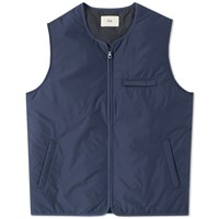 Folk Wadded Gilet Blue