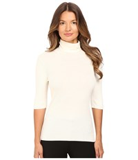 Theory Leenda B Refine Short Sleeve Turtleneck Ivory Women's Short Sleeve Pullover White