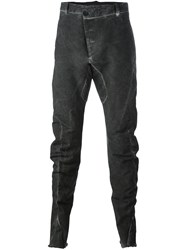 Masnada Washed Tapered Trousers Grey