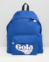 Gola Exclusive Classic Backpack In Blue And White Blue