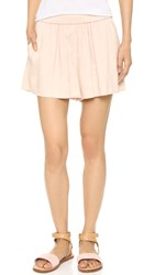 Vince Linen Pull On Shorts Rose Water
