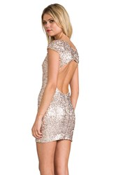 Dress The Population Gabriella Metallic Silver
