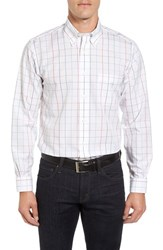 Brooks Brothers Men's No Iron Grid Broadcloth Sport Shirt