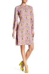 Orla Kiely Flower Explosion Sleeveless Dress Purple