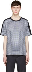 Stephan Schneider Navy Plaid T Shirt