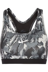Nike Pro Classic Printed Stretch Jersey Sports Bra Black