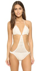 Minkpink Dreamweaver One Piece Swimsuit Cream