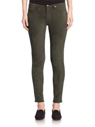 7 For All Mankind Mid Rise Skinny Jeans Olive Green