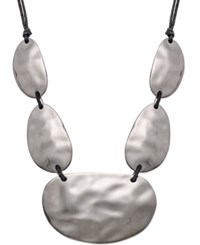 Styleandco. Style And Co. Hematite Tone Corded Hammered Disc Drama Necklace Only At Macy's
