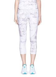 Alala 'White Palm' Captain Crop Tights