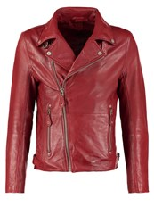 Gipsy Leather Jacket Rot Red