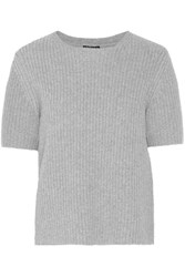 Theory Edalina Wool And Cashmere Blend Sweater Gray
