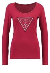 Guess Long Sleeved Top Blossom Wine Berry