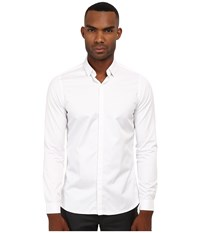 The Kooples Fitted Smart Twill Button Up White