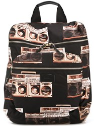 Paul Smith Boom Box Print Bacpack Black