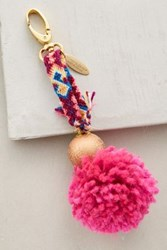 Anthropologie Pommed Friendship Keychain Purple