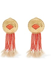 Aurelie Bidermann Gold Plated Coral