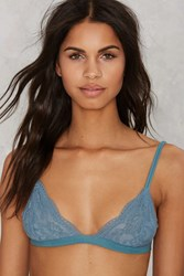 Nasty Gal Donna Lace Bralette Teal