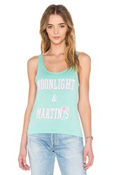 Junk Food Moonlight And Martinis Tank Turquoise