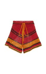Spencer Vladimir Tulum Striped Crochet Short Multi