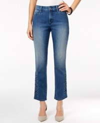 Nydj Embroidered Ira Relaxed Ankle Jeans St Germain