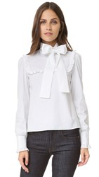 Red Valentino Tie Neck Blouse White