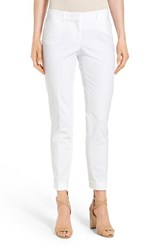 Lafayette 148 New York Women's 'Downtown' Stretch Cotton Blend Cuff Ankle Pants White