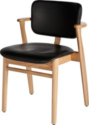 Artek Domus Birch Chair With Leather Seat And Back