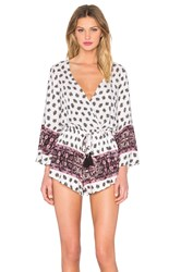 Reverse Day In The Sun Romper White
