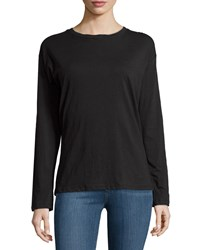 Neiman Marcus Active Long Sleeve Cotton Tee W Quote Back Charcoal Ridiculous