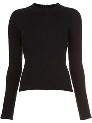 Carven Longsleeved T Shirt Black