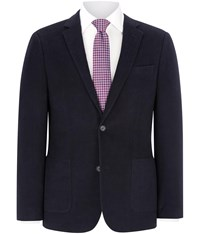 Austin Reed Regular Fit Navy Moleskin Blazer