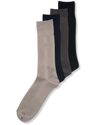 Perry Ellis Men's Socks Ribbed Rayon Dress Men's Socks Single Pack Light Brown