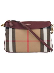 Burberry House Check Clutch Red