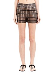 Emiliano Rinaldi Checked Silk Shorts Madras