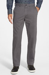 Men's Big And Tall Nordstrom Straight Leg Washed Chinos Grey Magnet