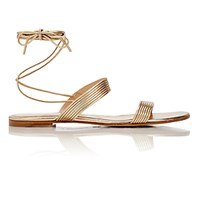 Gianvito Rossi Women's Double Band Ankle Tie Sandals Gold