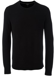 Rag And Bone Crew Neck Jumper Black