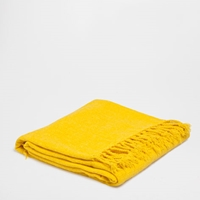 Yellow Chenille Blanket Throws Decor And Pillows Zara Home United States
