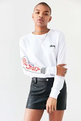 Stussy Standard Long Sleeve Tee White